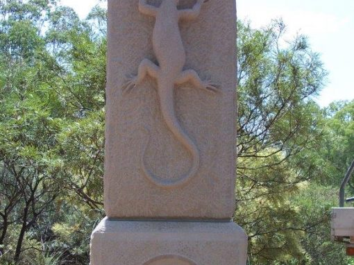 gateway column with carvings