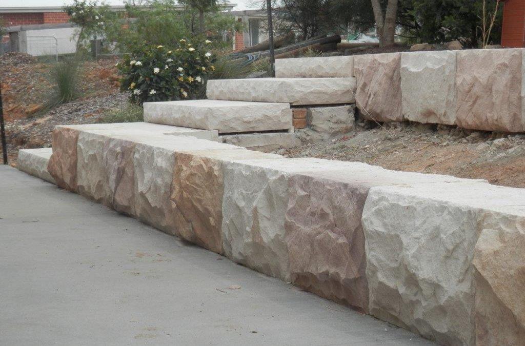 stone logs dressed